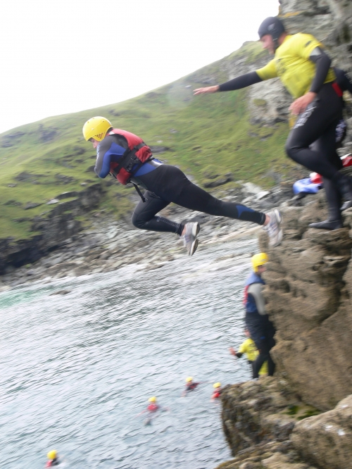 Coasteering in Bude Cornwall