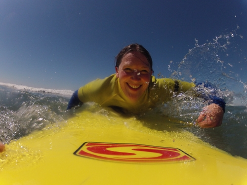 Board cam at Sandymouth Surf School